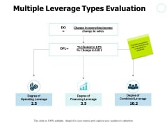 Multiple Leverage Types Evaluation Ppt PowerPoint Presentation Gallery Maker