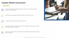 Multiple Phases For Supply Chain Management Supplier Market Assessment Clipart PDF