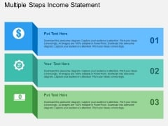 Multiple Steps Income Statement Powerpoint Templates