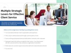 Multiple Strategic Levers For Effective Client Service Ppt PowerPoint Presentation Model Samples PDF