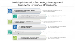 Multistep Information Technology Management Framework For Business Organization Ppt PowerPoint Presentation File Demonstration PDF