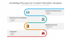 Multistep Process For Current Situation Analysis Ppt Infographic Template Show PDF