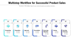Multistep Workflow For Successful Product Sales Ppt PowerPoint Presentation Gallery Template PDF