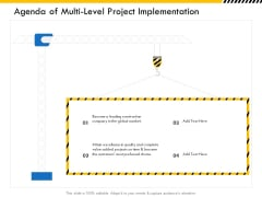 Multitier Project Execution Strategies Agenda Of Multi Level Project Implementation Designs PDF