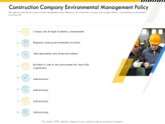 Multitier Project Execution Strategies Construction Company Environmental Management Policy Guidelines PDF