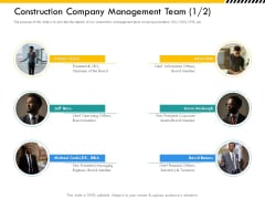 Multitier Project Execution Strategies Construction Company Management Team Teamwork Brochure PDF
