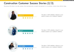 Multitier Project Execution Strategies Construction Customer Success Stories Demonstration PDF