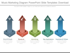 Music Marketing Diagram Powerpoint Slide Templates Download