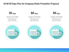 Music Promotion Consultation 30 60 90 Days Plan For Company Radio Promotion Proposal Formats PDF