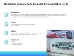 Music Promotion Consultation About Us For Company Radio Promotion Services Graphics PDF