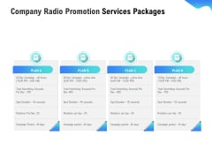 Music Promotion Consultation Company Radio Promotion Services Packages Infographics PDF