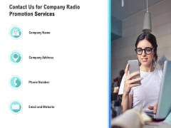 Music Promotion Consultation Contact Us For Company Radio Promotion Services Elements PDF