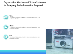 Music Promotion Consultation Organization Mission And Vision Statement For Company Radio Themes PDF