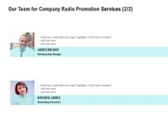 Music Promotion Consultation Our Team For Company Radio Promotion Services Formats PDF