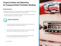 Music Promotion Consultation Project Context And Objectives For Company Radio Services Microsoft PDF