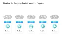 Music Promotion Consultation Timeline For Company Radio Promotion Proposal Download PDF