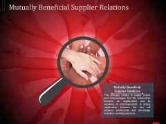 Mutually Beneficial Supplier Relations Ppt PowerPoint Presentation File Templates