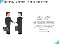 Mutually Beneficial Supplier Relations Ppt PowerPoint Presentation Ideas Grid
