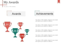 My Awards Ppt PowerPoint Presentation Ideas Graphics Download