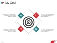 My Goal Ppt PowerPoint Presentation File Sample