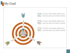 My Goal Ppt PowerPoint Presentation Model