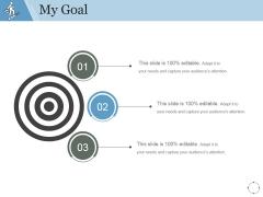 My Goal Ppt PowerPoint Presentation Samples