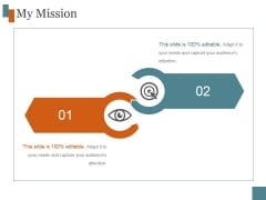 My Mission Ppt PowerPoint Presentation Template