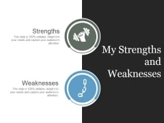 My Strengths And Weaknesses Ppt PowerPoint Presentation Deck