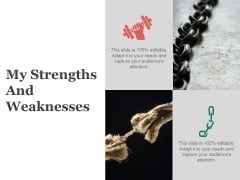 My Strengths And Weaknesses Ppt PowerPoint Presentation Icon Clipart Images
