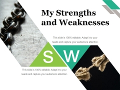 My Strengths And Weaknesses Ppt PowerPoint Presentation Ideas Files