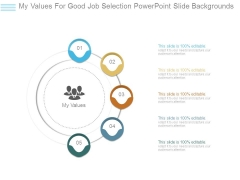 My Values For Good Job Selection Powerpoint Slide Backgrounds