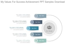 My Values For Success Achievement Ppt Samples Download