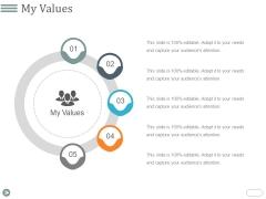 My Values Template 1 Ppt PowerPoint Presentation Ideas Design Inspiration