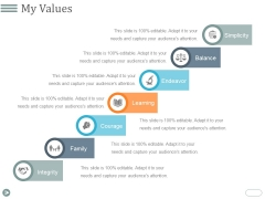 My Values Template 2 Ppt PowerPoint Presentation Infographics Inspiration