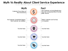 Myth Vs Reality About Client Service Experience Ppt PowerPoint Presentation Gallery Maker PDF