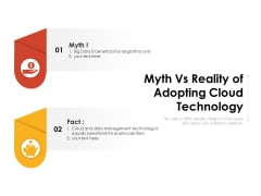 Myth Vs Reality Of Adopting Cloud Technology Ppt PowerPoint Presentation Gallery Templates PDF