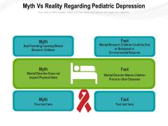 Myth Vs Reality Regarding Pediatric Depression Ppt PowerPoint Presentation Gallery Elements PDF