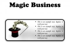 Magic Business Finance PowerPoint Presentation Slides R