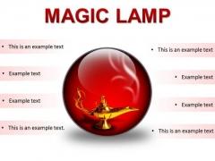Magic Lamp01 Metaphor PowerPoint Presentation Slides C