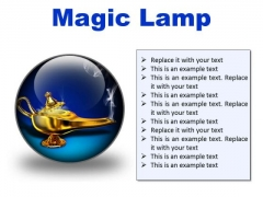 Magic Lamp Metaphor PowerPoint Presentation Slides C