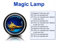 Magic Lamp Metaphor PowerPoint Presentation Slides Cc