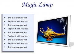 Magic Lamp Metaphor PowerPoint Presentation Slides F