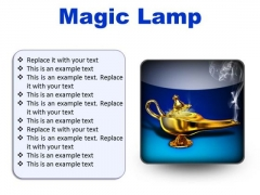 Magic Lamp Metaphor PowerPoint Presentation Slides S