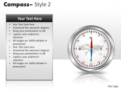 Magnetic Compass PowerPoint Slides And Ppt Template Graphics