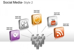 Make Friends Social Media PowerPoint Slides And Ppt Diagram Templates