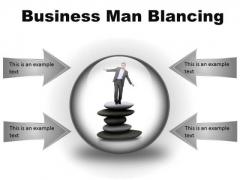 Man Balancing Business PowerPoint Presentation Slides C