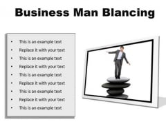 Man Balancing Business PowerPoint Presentation Slides F