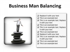 Man Balancing Business PowerPoint Presentation Slides S