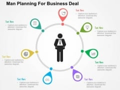 Man Planning For Business Deal PowerPoint Templates