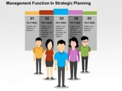 Management Function In Strategic Planning PowerPoint Template